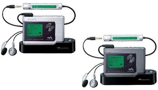 ネットワークウォークマン〔20GBハードディスク内蔵〕『NW-HD1』(左から)シルバー、ブラック