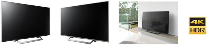 4K液晶テレビ ブラビア 『KJ-X8300Dシリーズ』 ブラック、ウォームシルバー(49V型)、『X7000Dシリーズ』(49V型)