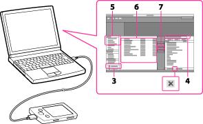 すでにパソコンと接続して、x,アプリが起動している場合は、手順3から操作してください。