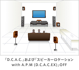 「D.C.A.C.」および「スピーカーリロケーション with A.P.M.(D.C.A.C.EX)」OFF