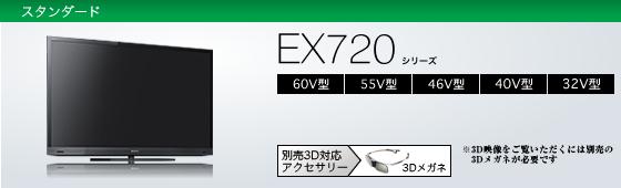 KDL-40EX720 | テレビ ブラビア | ソニー