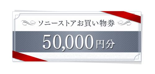 ソニーストアお買物券50,000円分