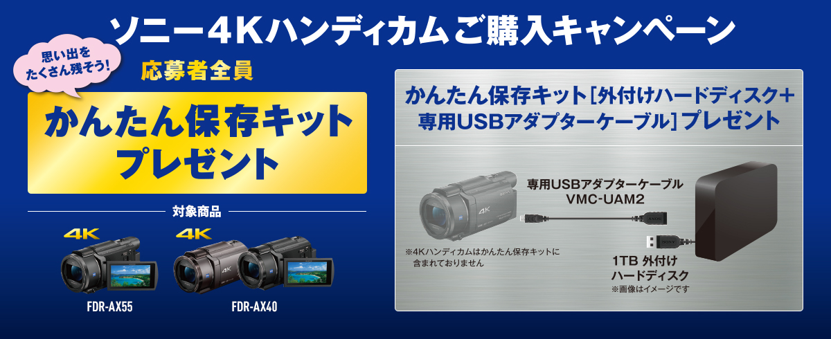 ソニー4Kハンディカムご購入キャンペーン