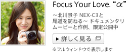 �`�k��i�q NEX-C3�Ɣ�����K�˂�`�h�L�������^���[���[�r�[�ƍ��A������J���@Focus Your Love. �g���h