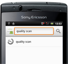 「QUALITY SCAN」と検索し、「QUALITY SCAN」アプリをインストール(無料)してください。