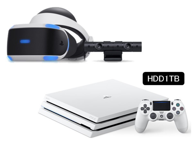 PlayStation&reg;VR Special Offer + PlayStation&reg;4 Pro<br>グレイシャー・ホワイトセット