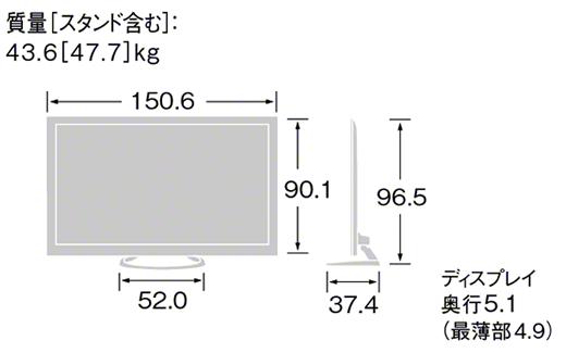 型 テレビ サイズ 65