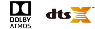 Dolby AtmosとDTS:Xに対応