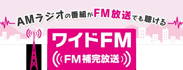 AMラジオの番組がFM放送でも聴ける ワイドFM(FM補完放送)! | ラジオ ...