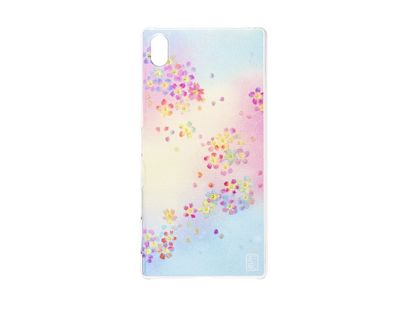 Design Clear Case for Xperia™ Z5 Premium 桜模様 染織画家西形彩庵デザイン