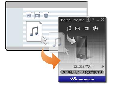 ソフトウェアダウンロード 簡単転送アプリケーション content transfer