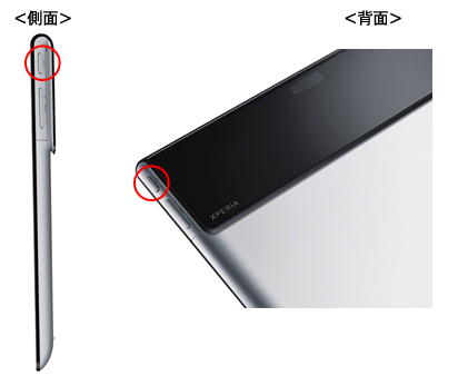 Xperia Tablet Sのリセット方法