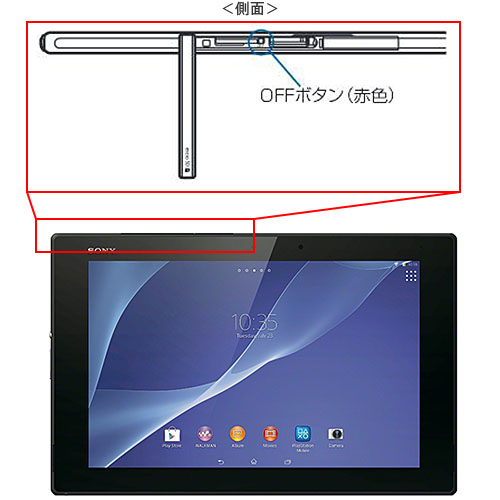 Xperia Z2 Tabletのリセット方法