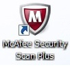 McAfee Security Scan Plusのショートカットアイコン