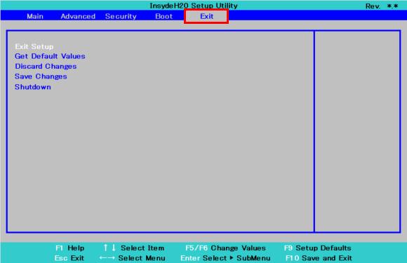 BIOSセットアップメニューの設定を初期化する方法 (Windows 8 1・Windows 8)