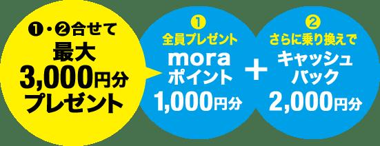 最大3,000円分プレゼント
