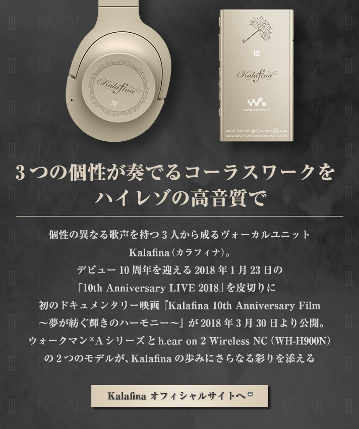 ウォークマン®Aシリーズ & h.ear on 2 Wireless NC Kalafina 10th Anniversary Special Package