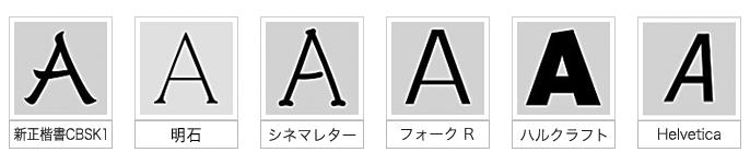 ※アルファベット5種類